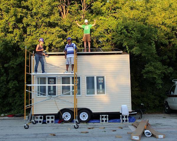 Northwestern University's Off Grid Tiny House on a Trailer