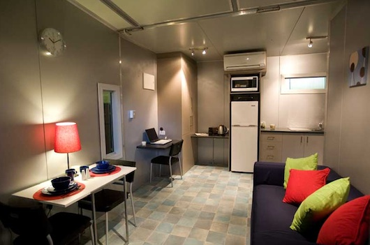 Inside Prefab Shipping Container House - Podd
