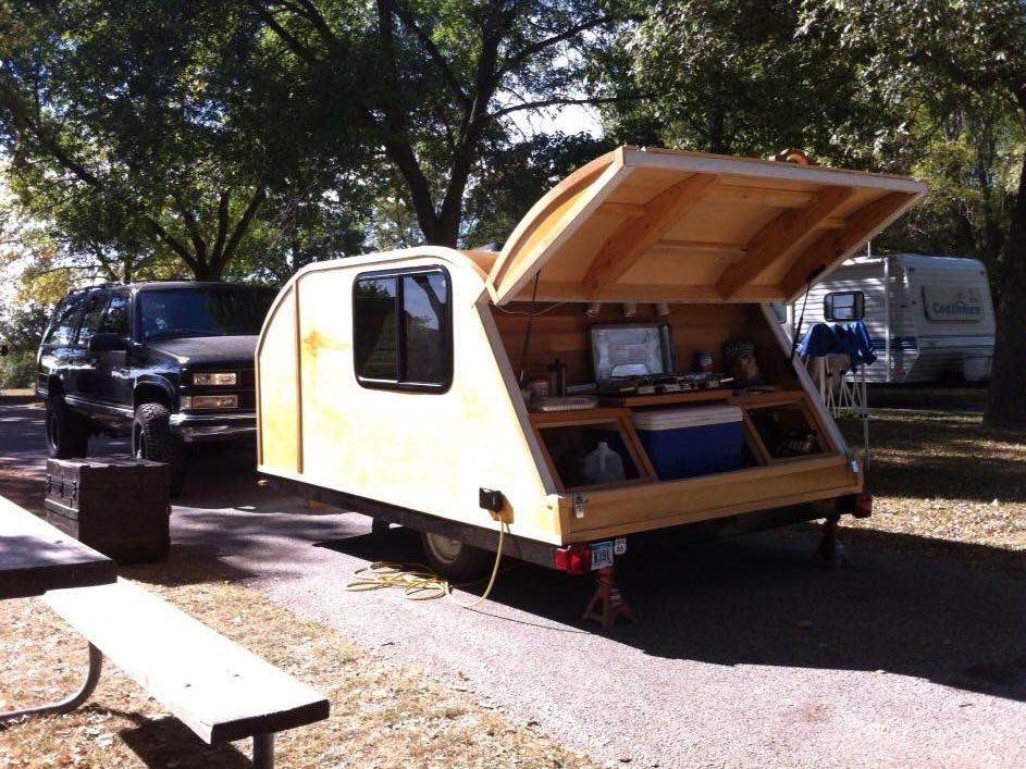Pop Up Trailer to Teardrop Camper Project