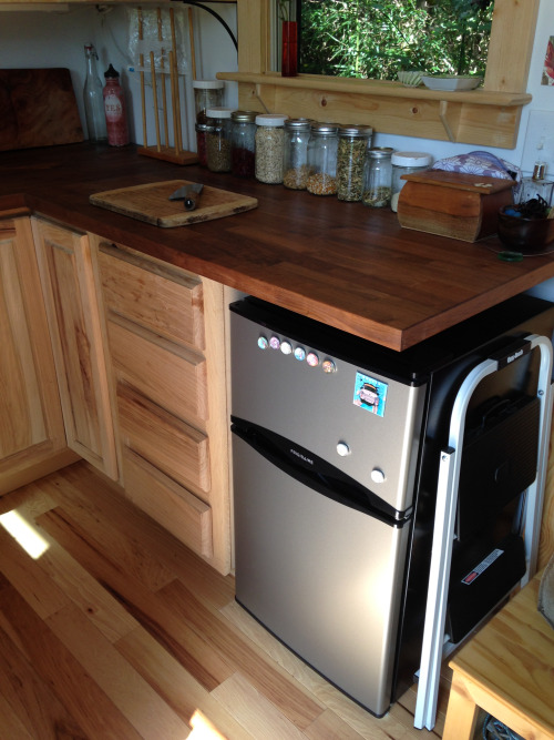 tiny house fridge. This Might Be One Of The Biggest Challenges With Living In A Tiny House, Fridge. Two Cubic Ft Fridge And 1 Cf Freezer. But We\u0027re Working It Out. House