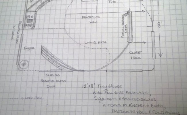 Rae Rickman S 8x12 Tiny House Floor Plan