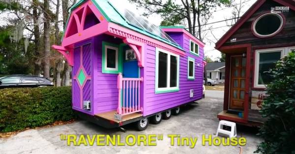 colorful ravenlore tiny housetiny green cabins