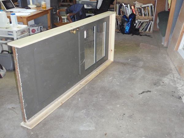 Reclaimed Door Building Frame Around It