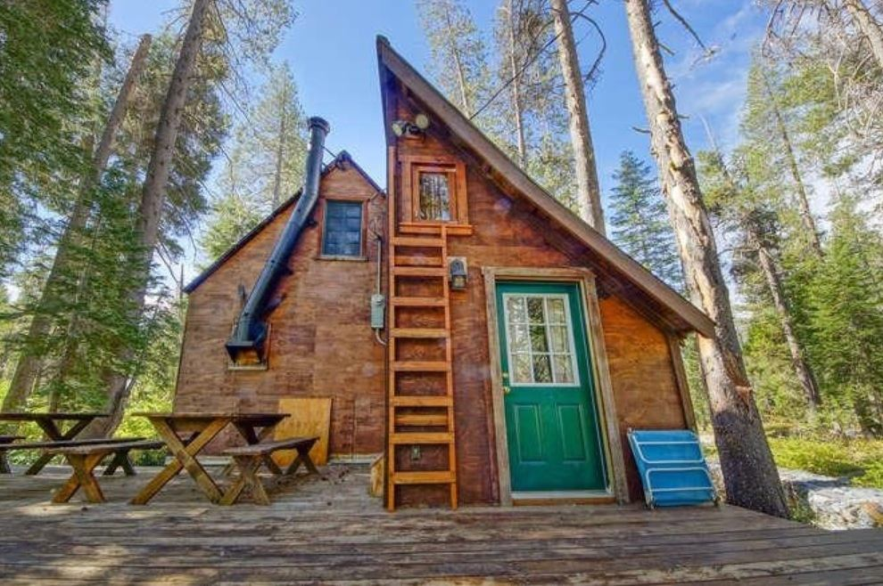 Do It Yourself Home Design: Riverfront Tiny Cabin In California Woods For Sale