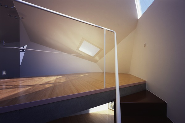 Upstairs inside Minimalist Small Home in Tokyo
