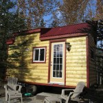 Sandra's Tiny House All Setup at the Campground