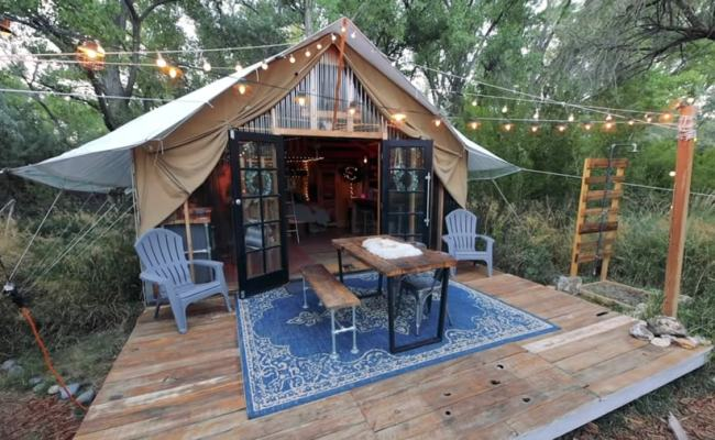 Family Of Four S 6 000 Tent Cabin In New Mexico