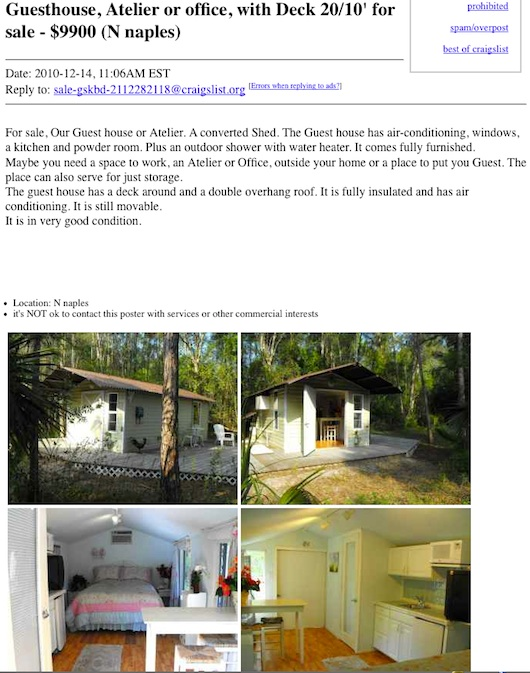 Shed Conversion Tiny House on Craigslist