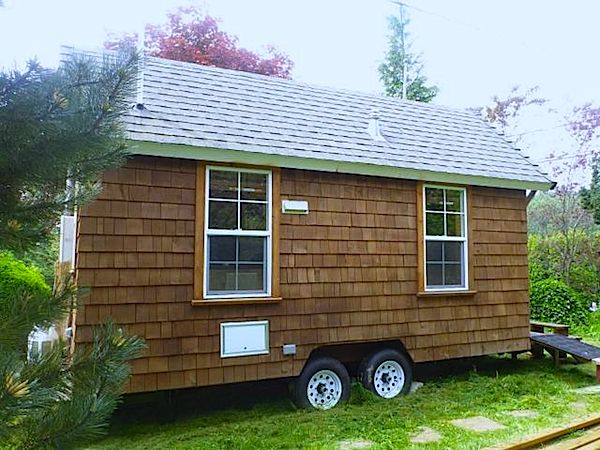 Sideview of Custom Tiny House on Wheels