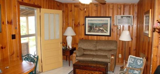 Inside Small Rustic Cabin at Lost Lodge
