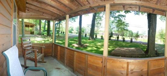 Porch at Small Cabin at Lake Cumberland