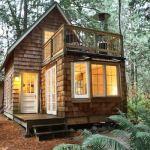 Tiny Cabin with Upstairs Balcony