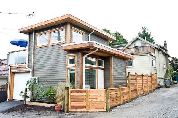 Small House Features Balcony, Loft, and Garage