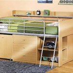 Small Space Furniture - Loft Bed with Storage and Desk Functionality