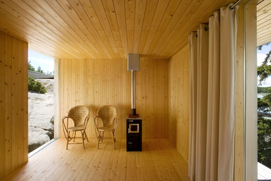 Small Wedge House Interior