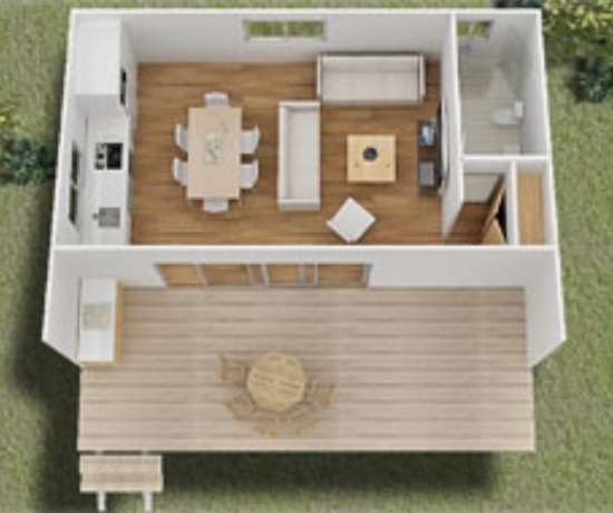 Tiny House Floor Plan and Layout - Squatter