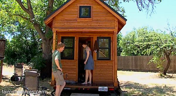 Tammy and Logan: Couple Living Simply Debt-free and Car-free in a Tiny House