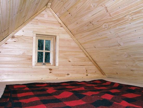 Sleeping Loft in the Tarleton Tiny House