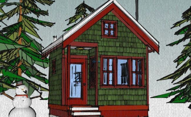 The Borealis Writer S Cabin 12 X12 Tiny House Plans