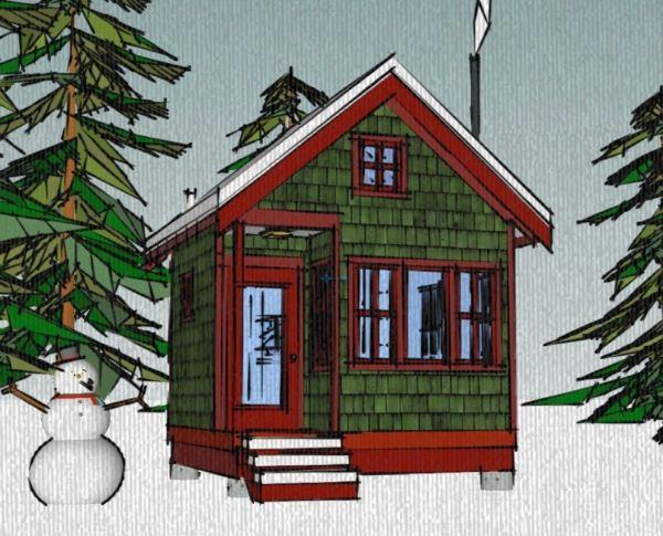 Borealis Writer' Cabin 12'x12' Tiny House Plans