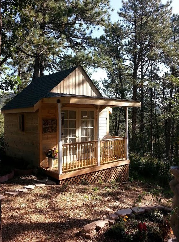 160 sq ft bed and breakfast cottage in the colorado forest for Bed and breakfast plans and designs
