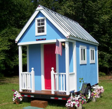 A tiny house on a trailer that costs less for Cheap playhouse kits