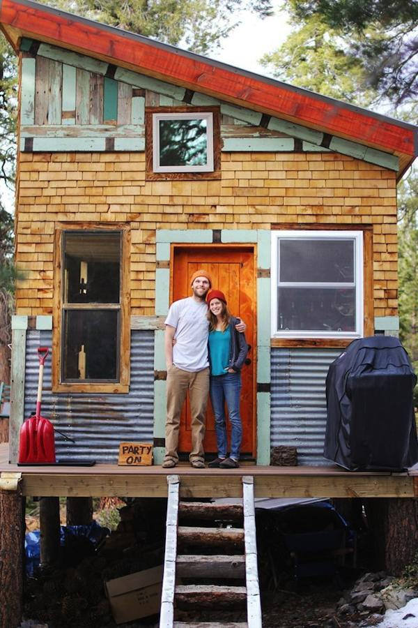 Young Couple Build Mortgagefree OffGrid Micro Cabin