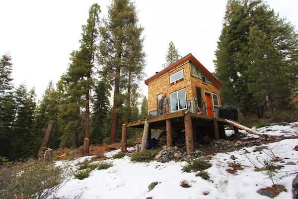 Young Couple Build Mortgage-free, Off-Grid Micro Cabin