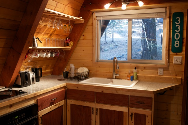 Tiny Aframe Cabin in the Woods