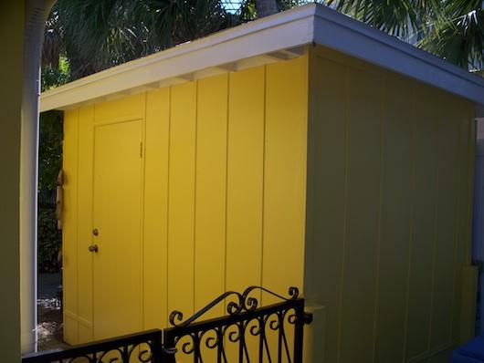 Yellow Storage Shed