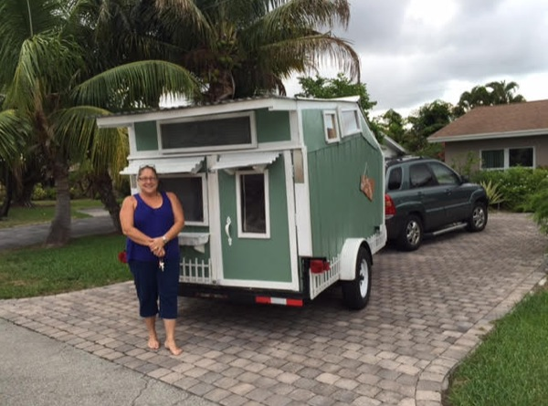 Woman Builds Micro Cabin on Wheels: Part II