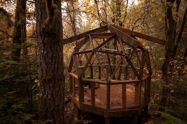 Tiny Dome Home Framing and Skeleton of Structure