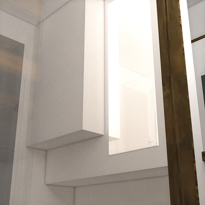 Bathroom Storage in the Nook Tiny House
