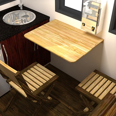 The Nook Really Small And Easy to Tow Tiny House Plans