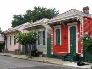 Shotgun row houses, New Orleans.