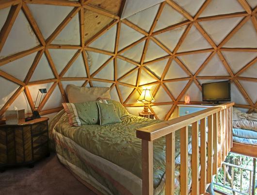Tiny Mushroom Dome Cabin in Aptos CA