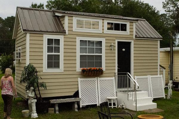 Tiny Retirement House with No Sleeping Loft by Dan Louche of Tiny Home Builders