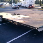 Andrew Odom's trailer from old RV for his tiny house on wheels