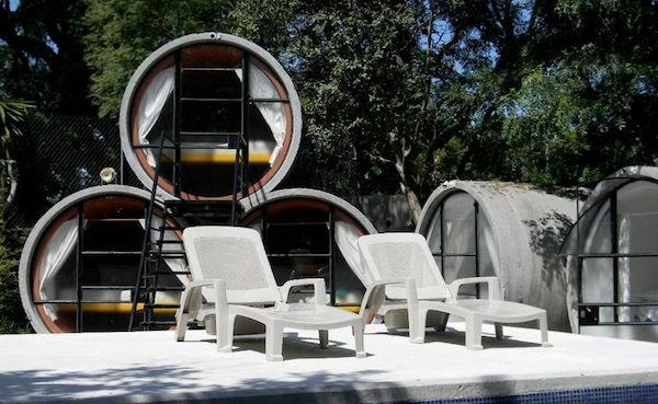 Recycled Tubes turned to Tiny House Hotel in Tepoztlan Mexico
