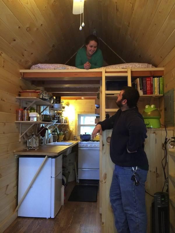 interior of finished diy tumbleweed tiny house - Tumbleweed Tiny House Interior