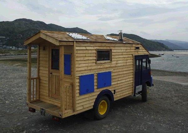 Tiny House Built On A 1954 Goddess Firetruck Wooden