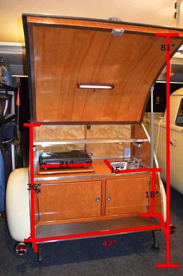 Wooden Hand Built Teardrop Camper for Sale