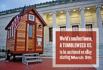 XS House by Tumbleweed Tiny Houses on Toledo for Auction on eBay