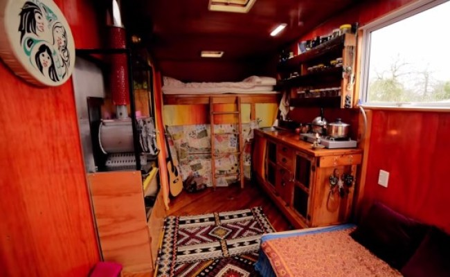 Couple Living Simply In Diy Box Truck Tiny House