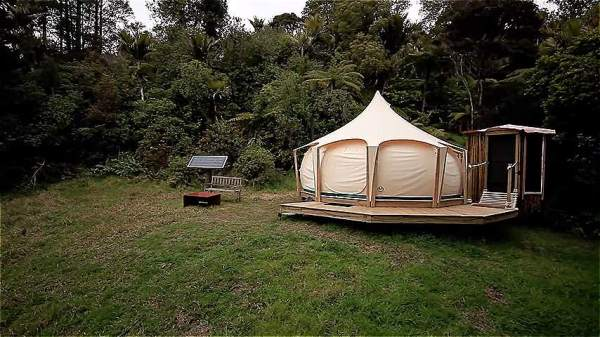 Man Escapes Rent with Belle Tent While Building Tiny Home