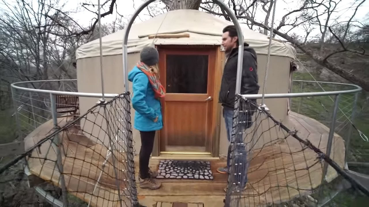 Yurt Tree Cabin with a WrapAround Deck