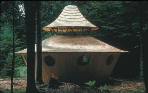 The Nearing's yurt in Maine - built with help form the yurt-famous Bill Copperthwaite.