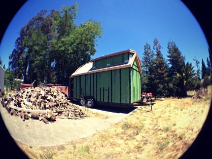 Fisheye view of the barn raiser.