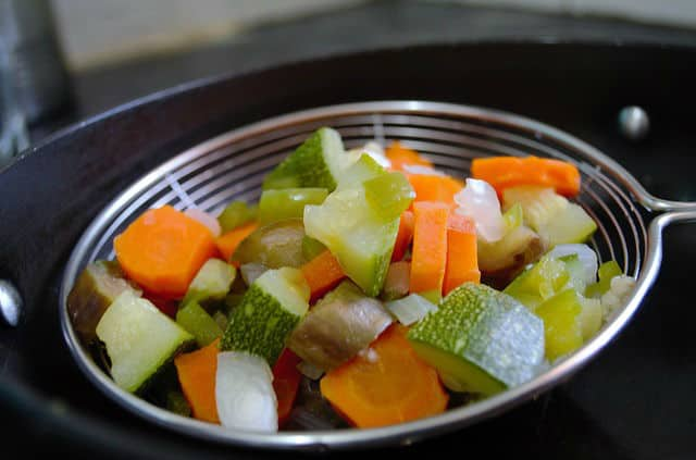 boiled veggies