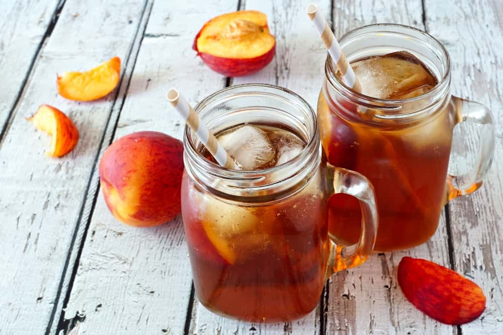 Peach and Orange Iced Tea